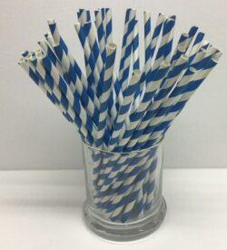 Blue and White Straws