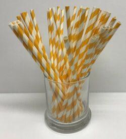 Orange and White Straws