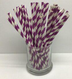 Purple and White Straws